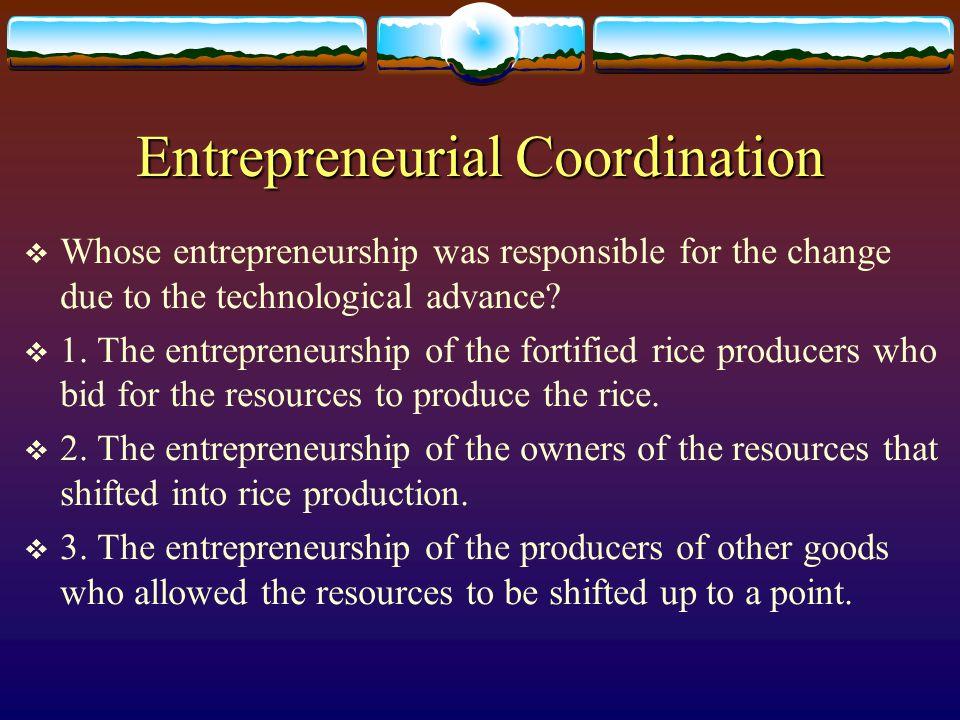 Entrepreneurial Coordination