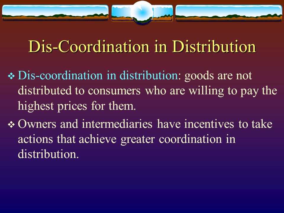 Dis-Coordination in Distribution