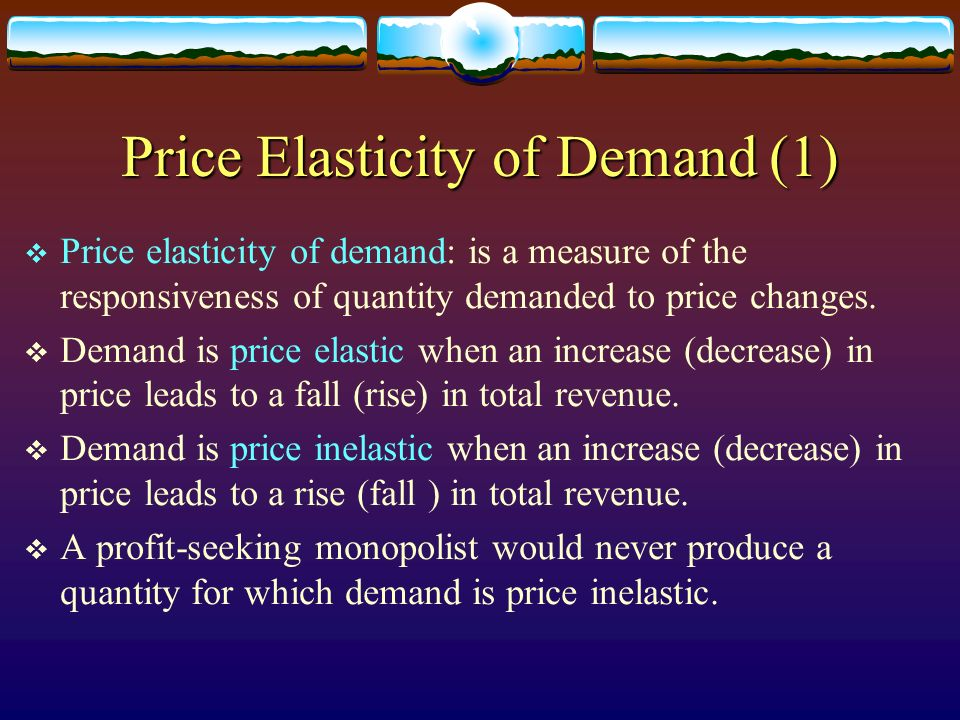 Price Elasticity of Demand (1)