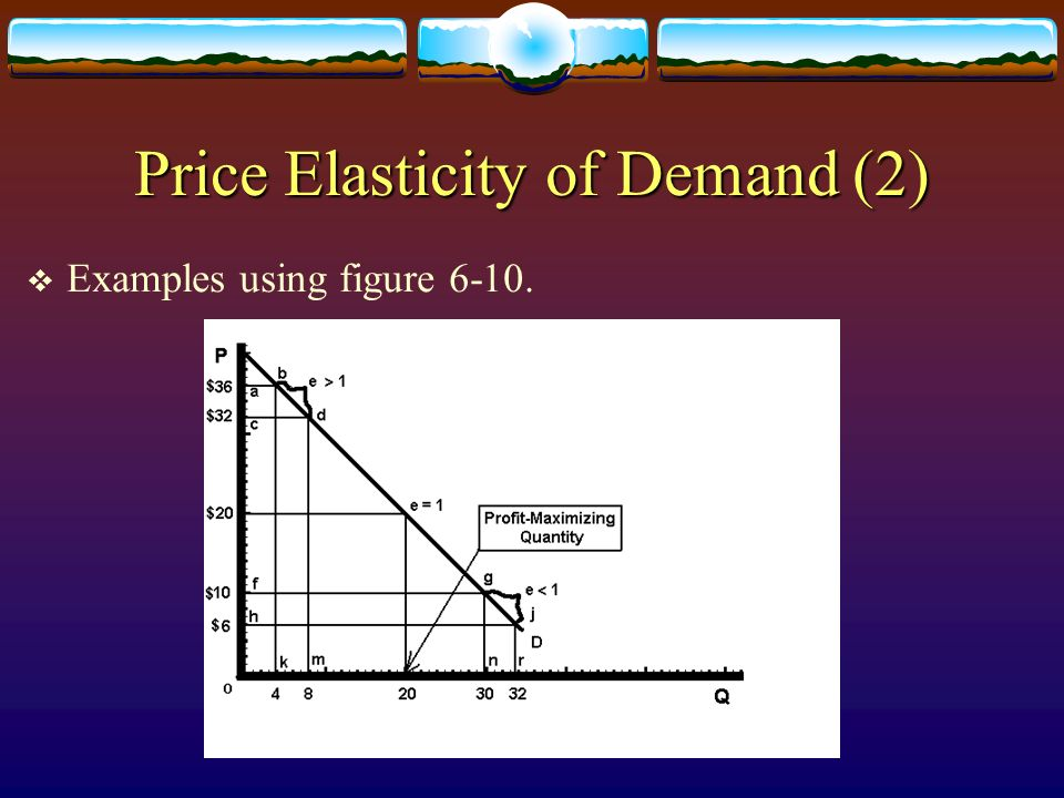 Price Elasticity of Demand (2)