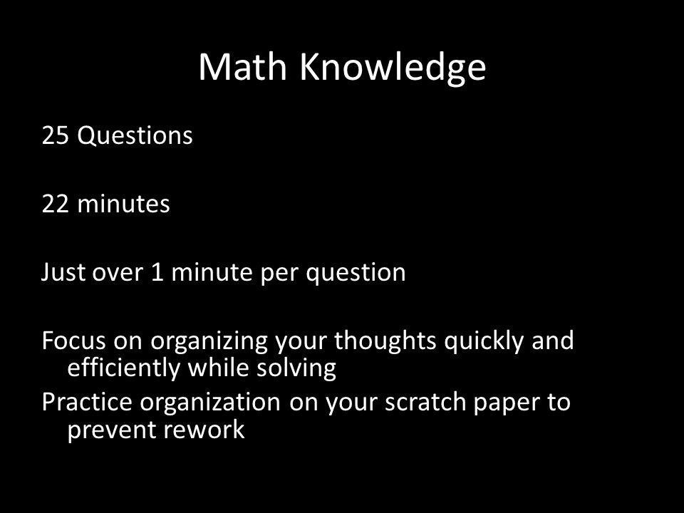 Math Knowledge