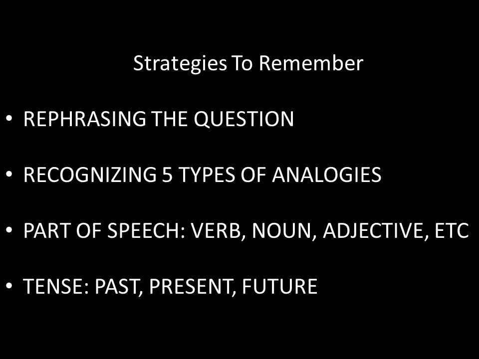 Strategies To Remember