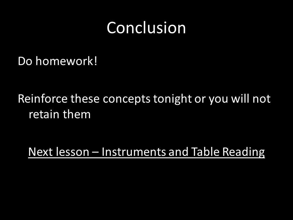 Conclusion Do homework.