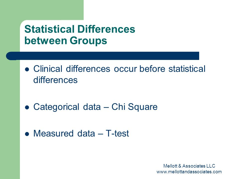 Statistical Differences between Groups