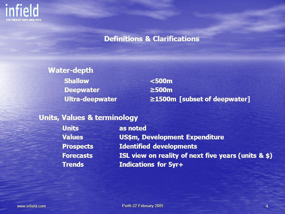 Definitions & Clarifications Units, Values & terminology