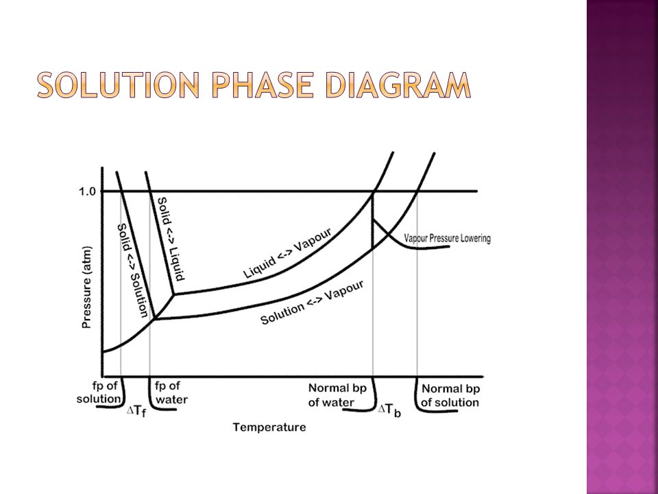 Solution Phase Diagram