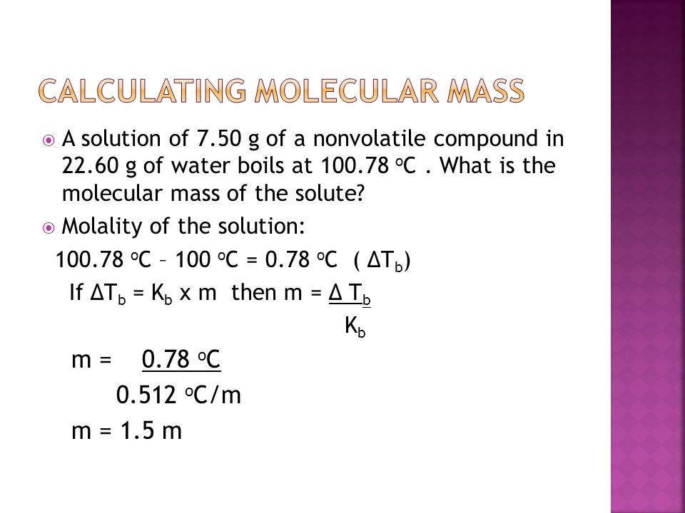 Calculating Molecular Mass