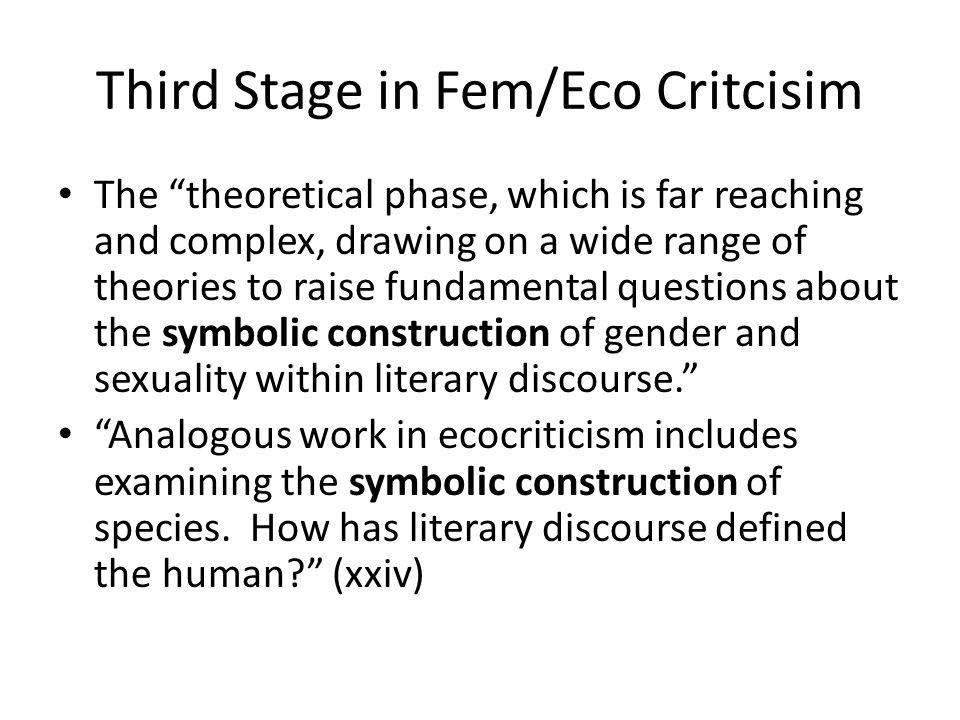 Third Stage in Fem/Eco Critcisim
