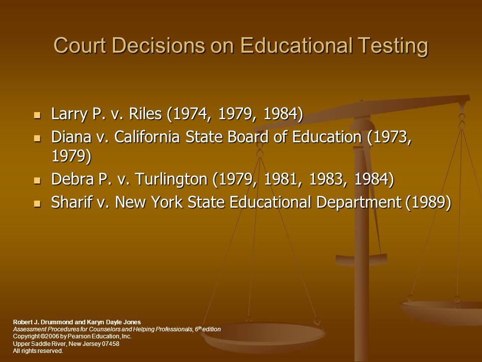 Court Decisions on Educational Testing