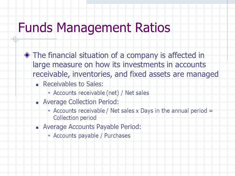 Funds Management Ratios