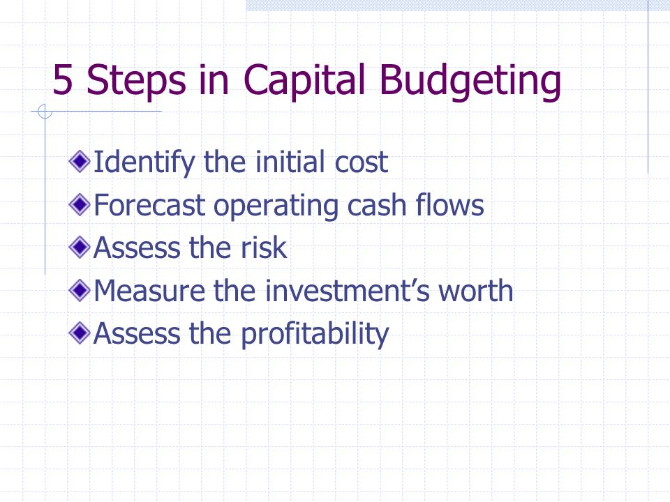 5 Steps in Capital Budgeting