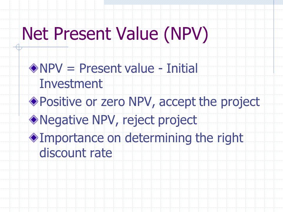 Net Present Value (NPV)