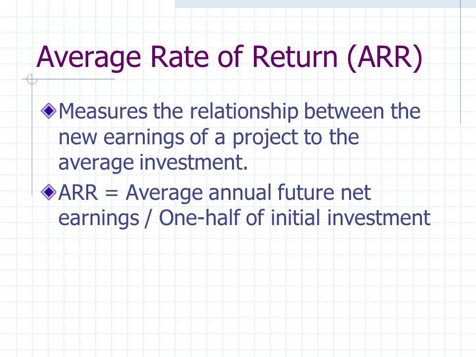 Average Rate of Return (ARR)