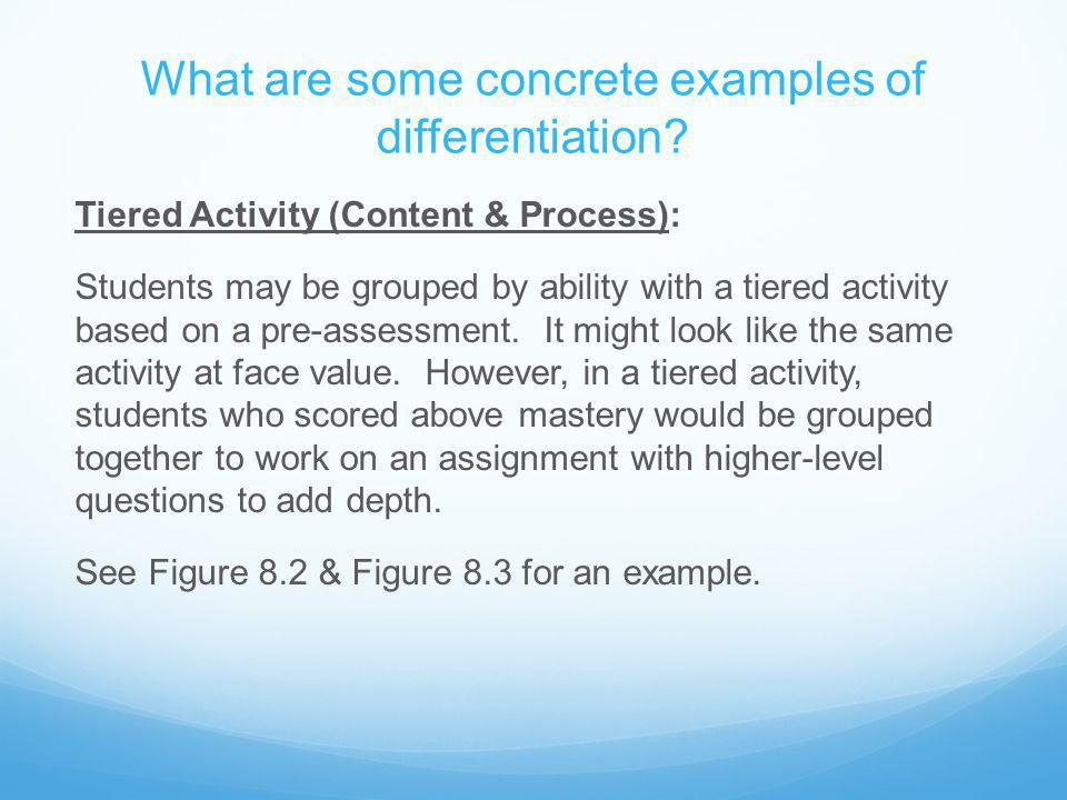 What are some concrete examples of differentiation