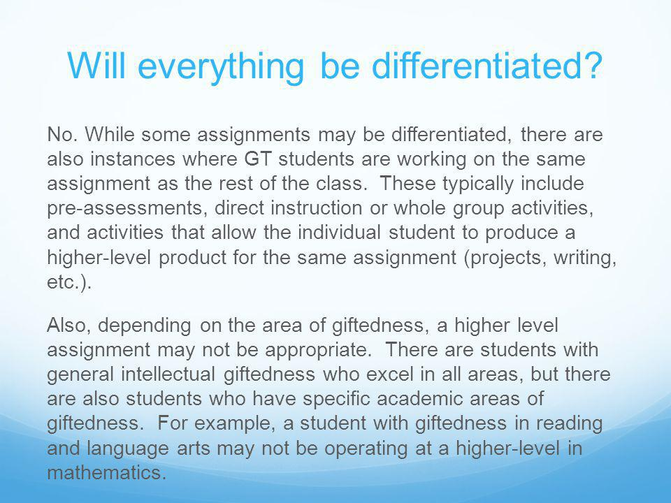 Will everything be differentiated