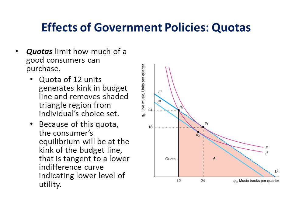 Effects of Government Policies: Quotas