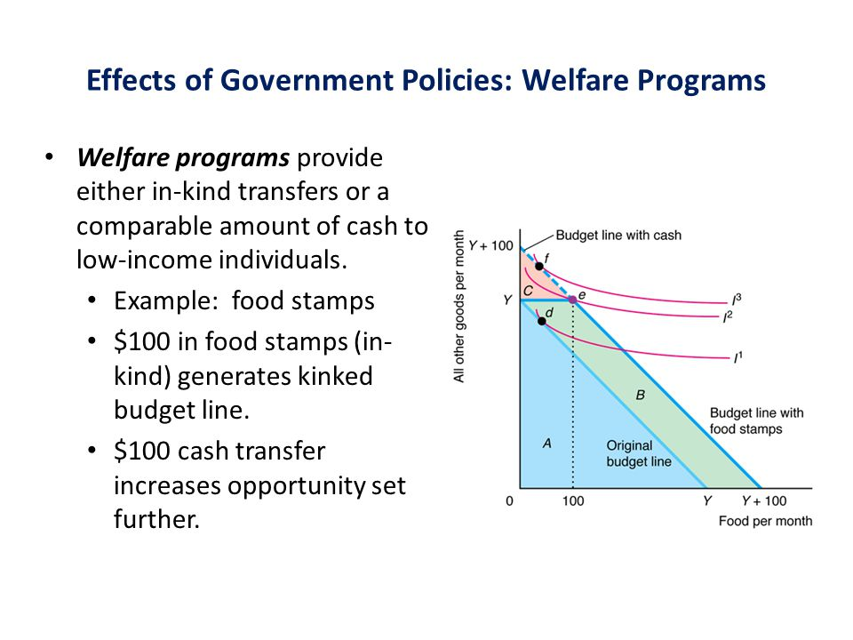 Effects of Government Policies: Welfare Programs