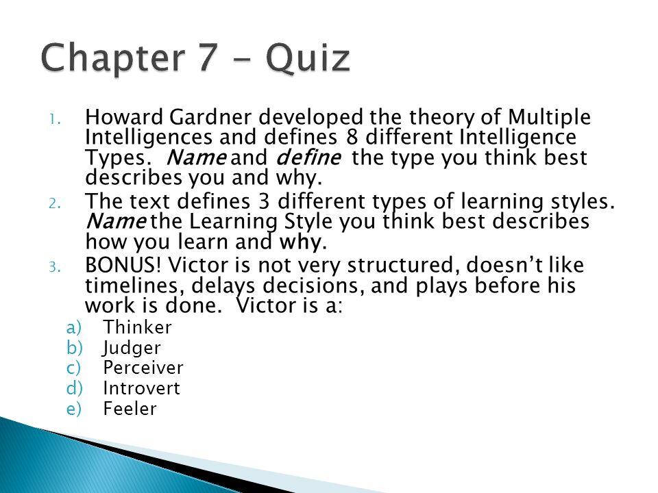 Chapter 7 - Quiz