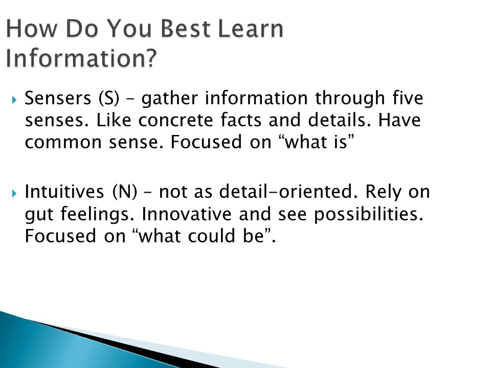 How Do You Best Learn Information