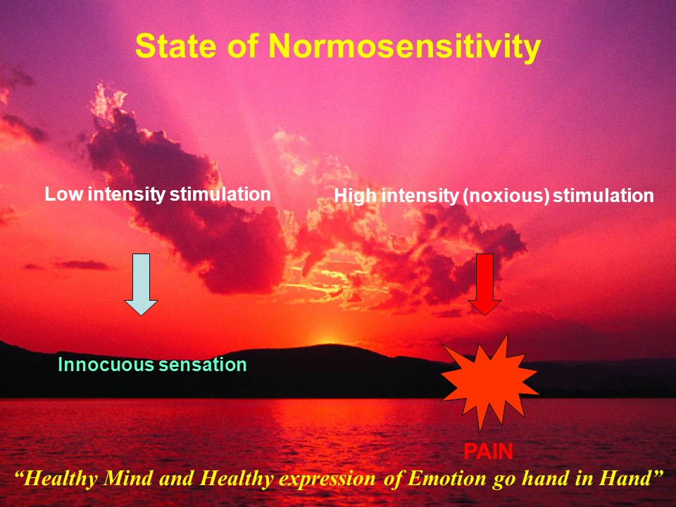 State of Normosensitivity