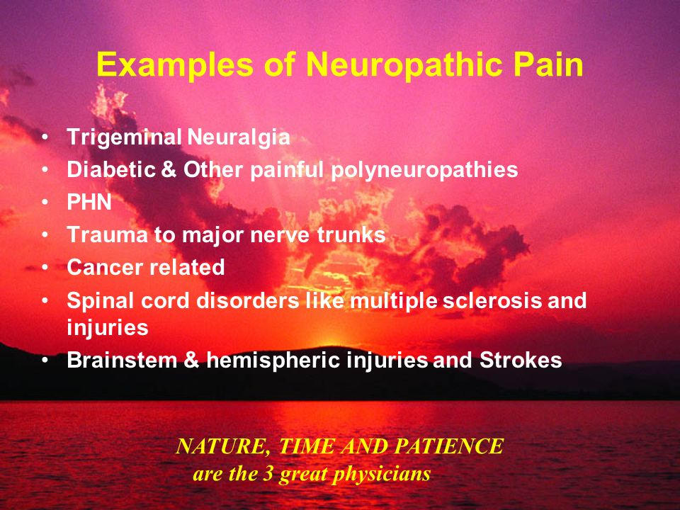 Examples of Neuropathic Pain