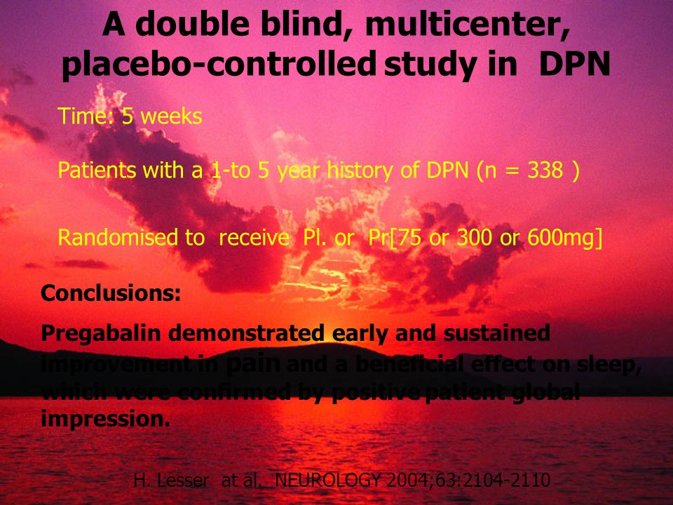A double blind, multicenter, placebo-controlled study in DPN