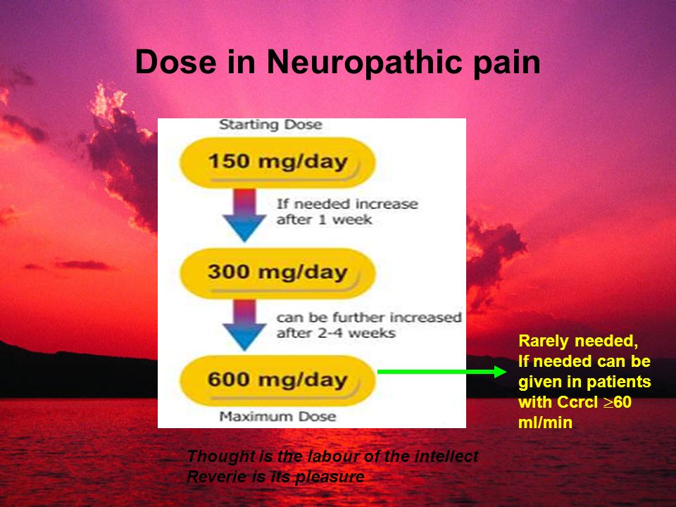 Dose in Neuropathic pain
