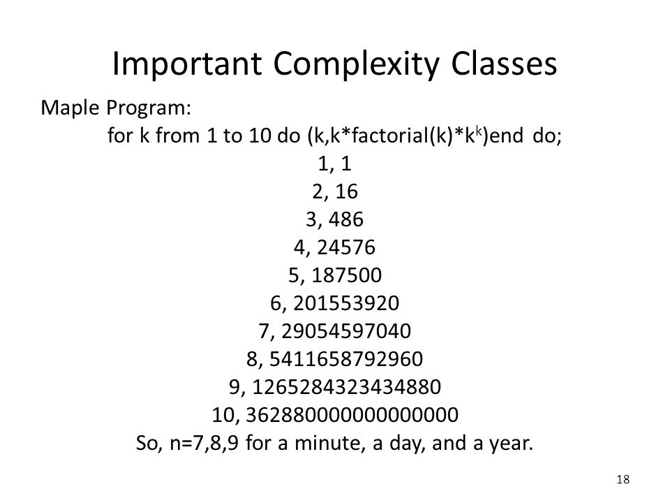 Important Complexity Classes