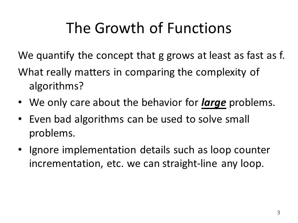 The Growth of Functions