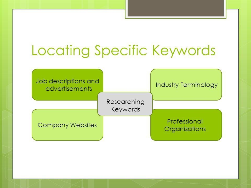 Locating Specific Keywords
