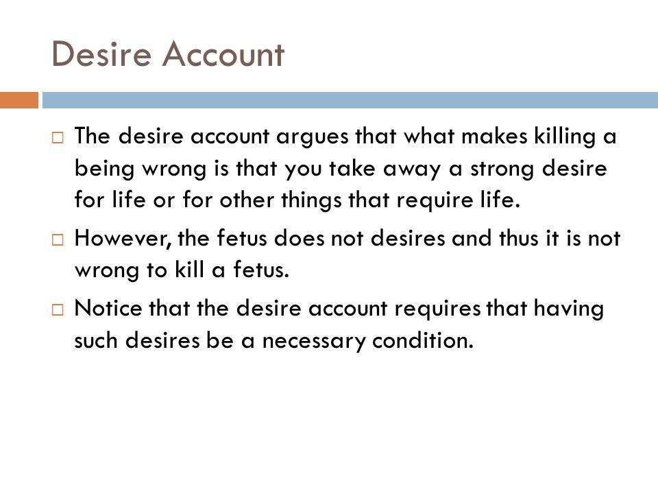 Desire Account
