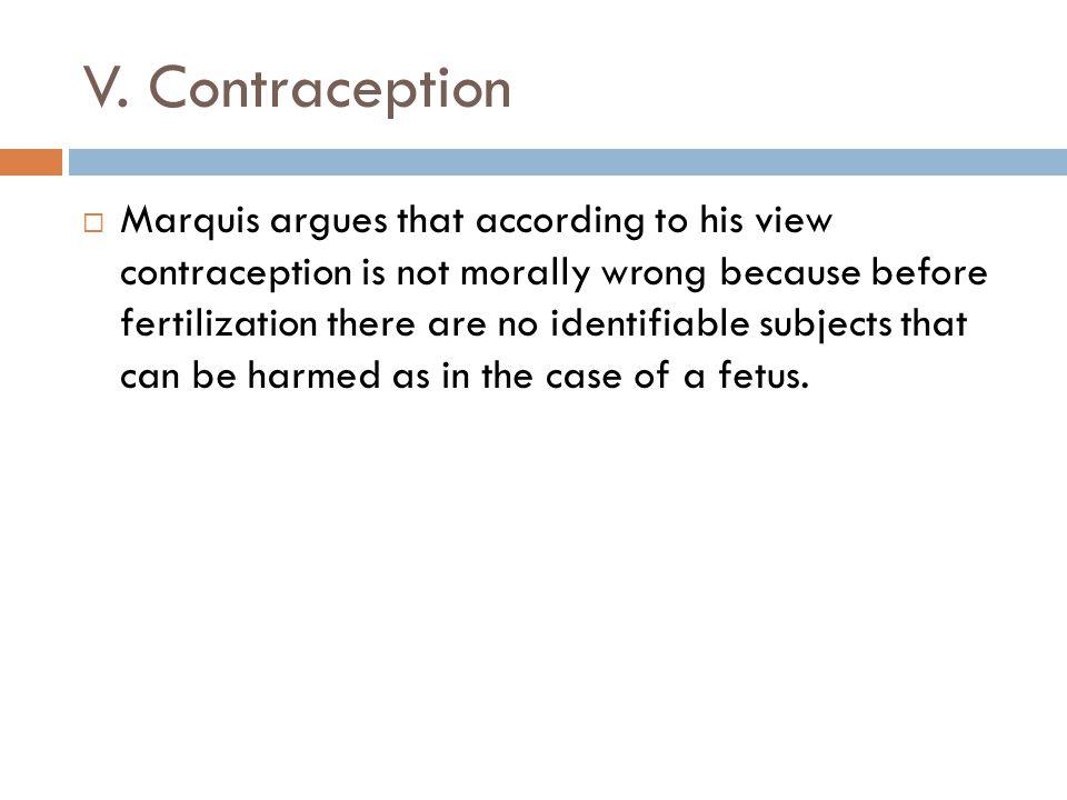 V. Contraception