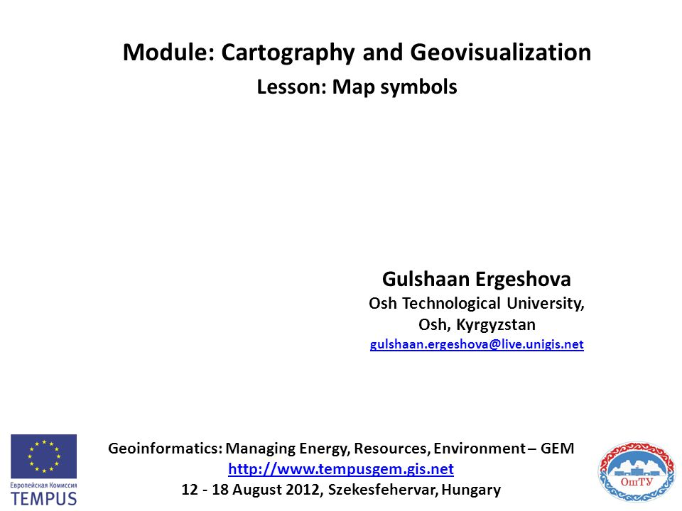 Module: Cartography and Geovisualization Lesson: Map symbols