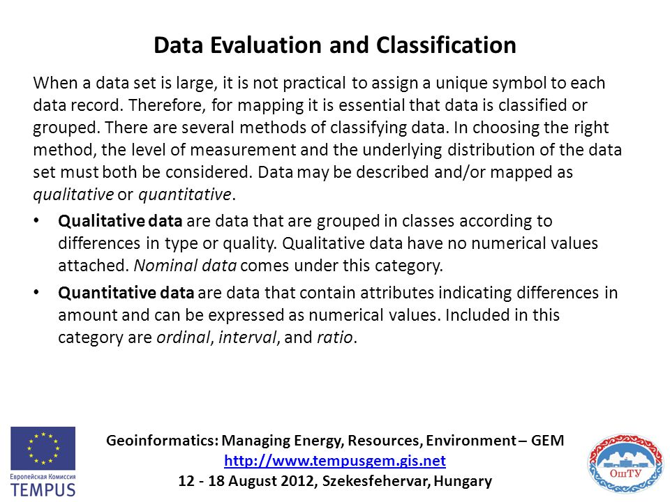 Data Evaluation and Classification