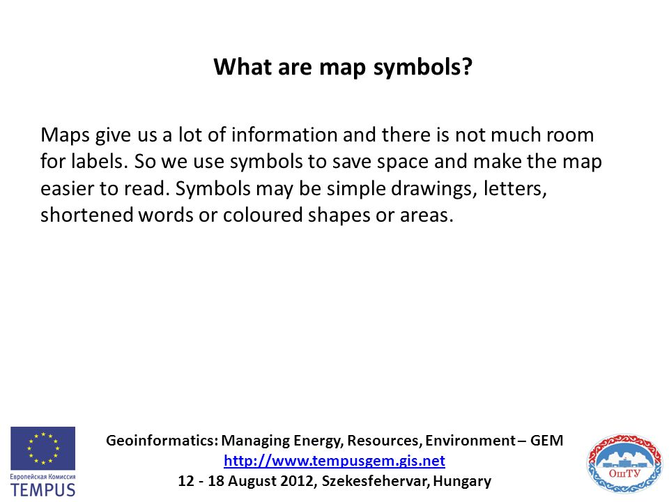 What are map symbols