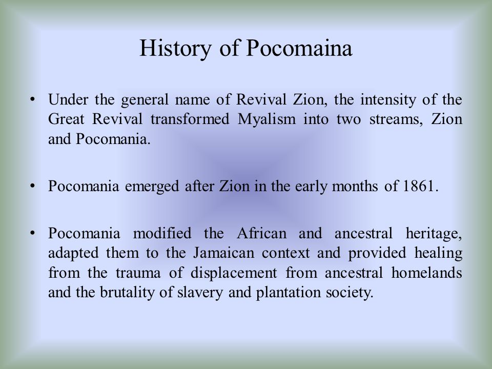 History of Pocomaina