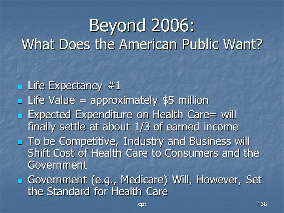 Beyond 2006: What Does the American Public Want