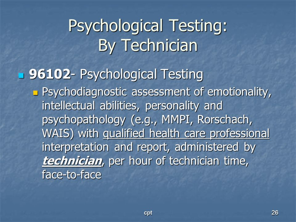 Psychological Testing: By Technician