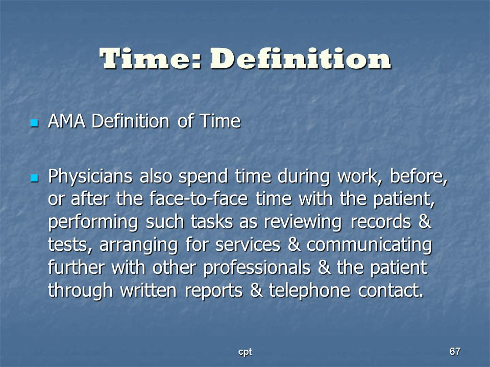 Time: Definition AMA Definition of Time