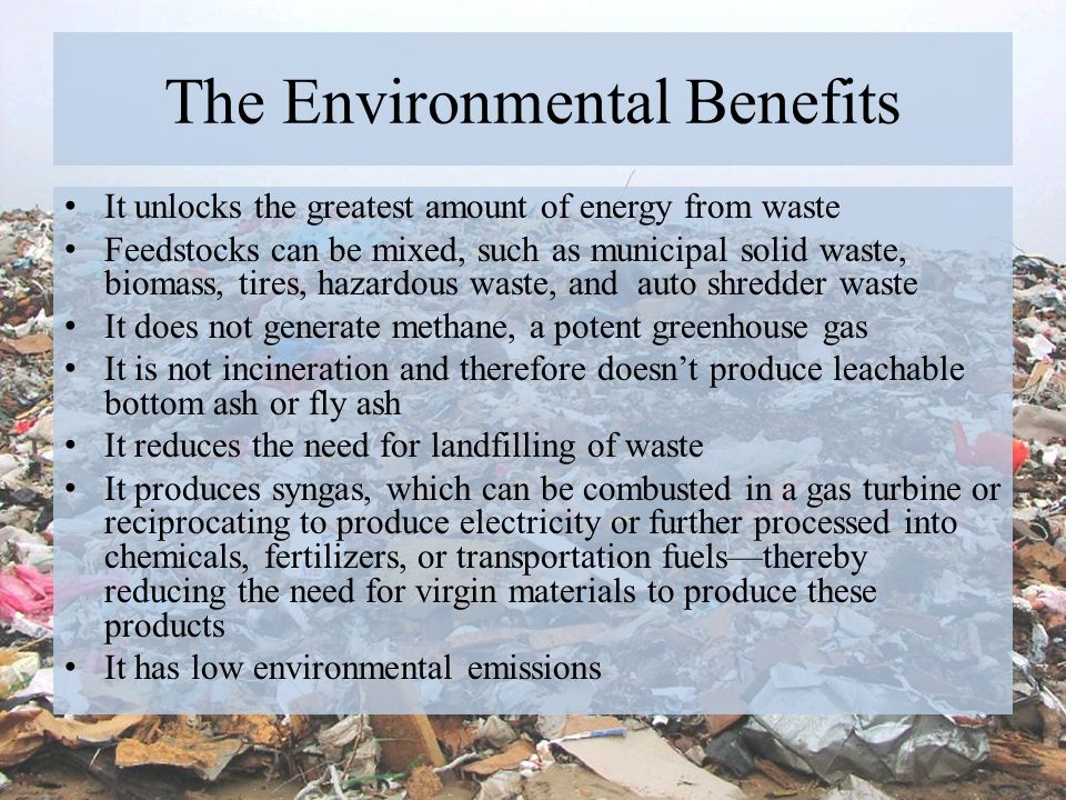 The Environmental Benefits