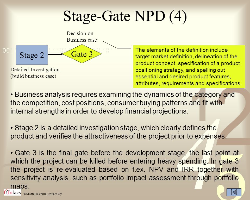 Stage-Gate NPD (4) Gate 3 Stage 2