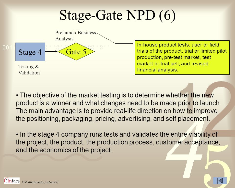 Stage-Gate NPD (6) Stage 4 Gate 5