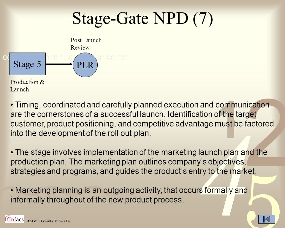 Stage-Gate NPD (7) Stage 5 PLR