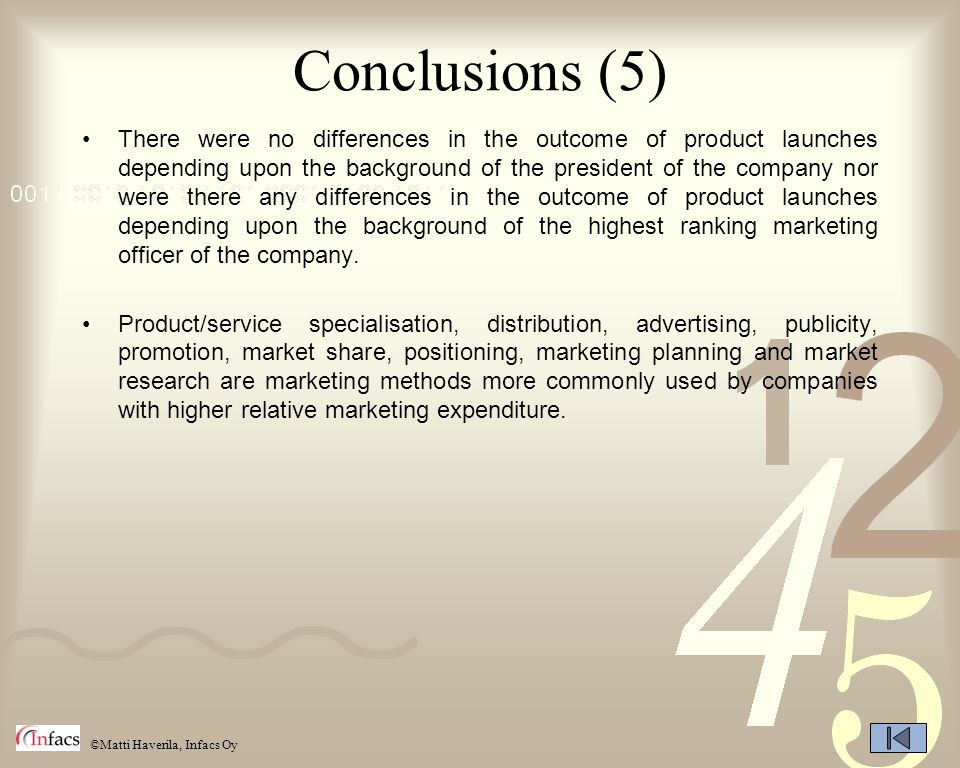 Conclusions (5)
