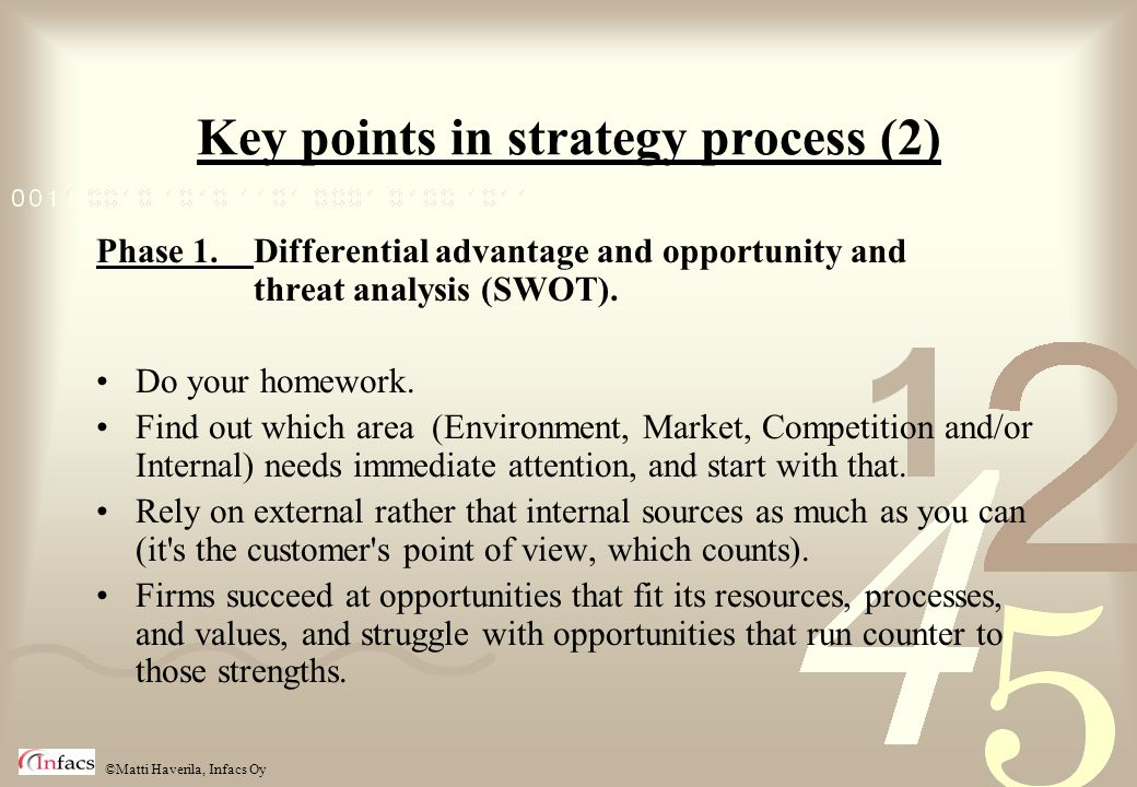 Key points in strategy process (2)