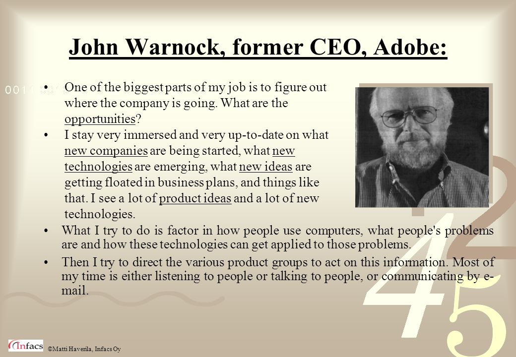 John Warnock, former CEO, Adobe: