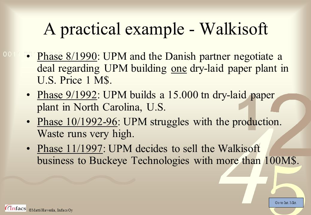 A practical example - Walkisoft