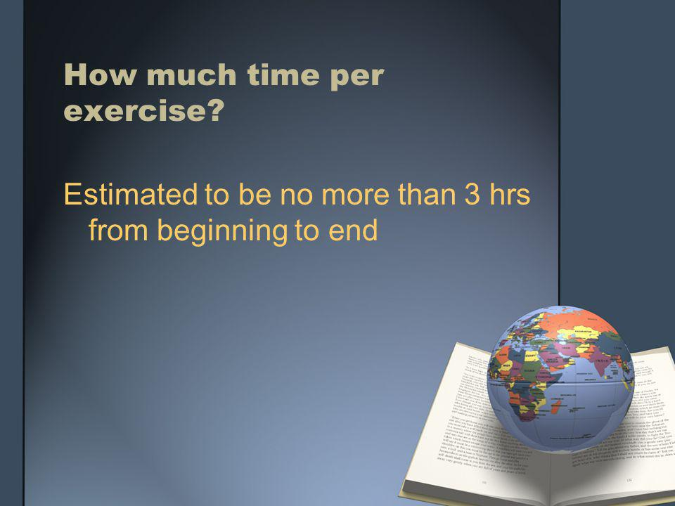 How much time per exercise