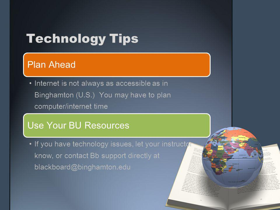 Technology Tips Plan Ahead Use Your BU Resources