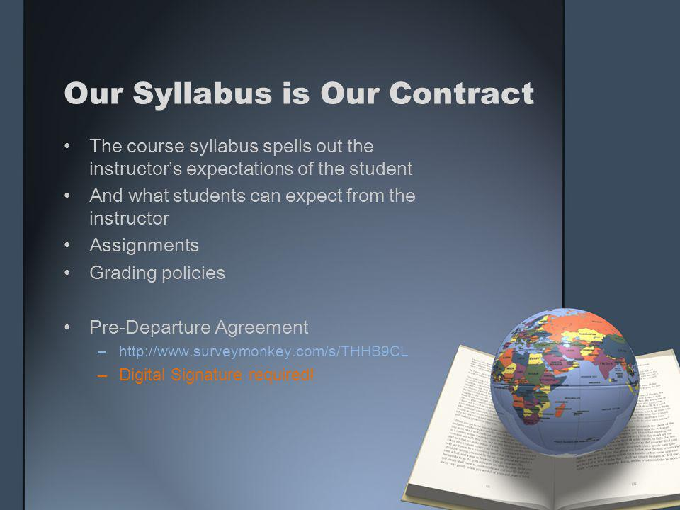 Our Syllabus is Our Contract